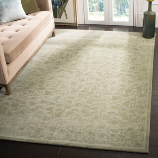 Safavieh Couture Hand-Knotted Contemporary Celery Wool & Silk Rug (10' x 14')