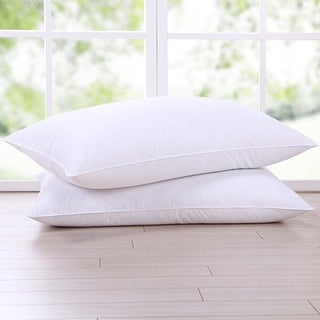 St. James Home Goose Feather and Down Pillow (Set of 2) - White