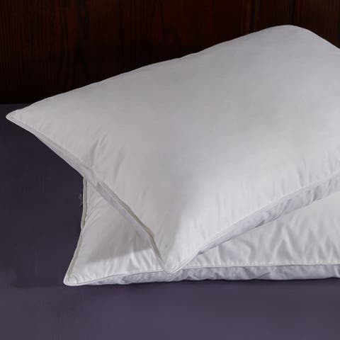 2 Pack Goose Feather and Down Pillows for Side & Back Sleepers - White