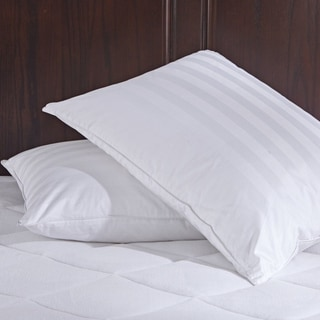 St. James Home White Goose Down Pillows with Pillow Protectors (Set of 2)
