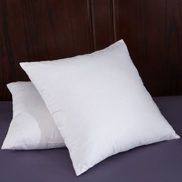 St. James Home White Goose Feather 18 inch Square Pillow Insert (Set of 2)