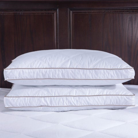 St. James Home Quilted Goose Feather and Down Pillow (Set of 2) - White