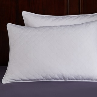 St. James Home Quilted White Goose Feather and Down Pillow (Set of 2)