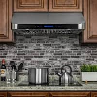 """AKDY RH0249  36"""" Stainless Steel Under Cabinet Range Hood Touch Panel Kitchen Cooking Fan with Remote"""
