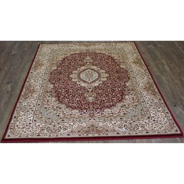 """Red Oriental Indoor Rug 100% Polypropylene - 5'4"""" x 7'5"""""""
