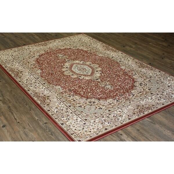 "Rose Oriental Indoor Rug 100% Polypropylene - 5'4"" x 7'5"""