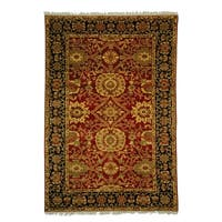 Safavieh Couture Hand-Woven Zeigler Mahal Vintage Red / Navy Wool Rug (12' x 18')