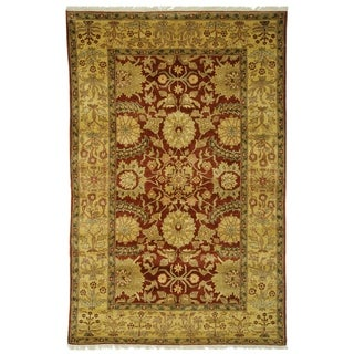 Safavieh Couture Hand-Woven Zeigler Mahal Vintage Camel / Red Wool Rug (12' x 18')