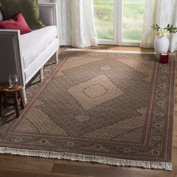Safavieh Couture Hand-Knotted Tabriz Herati Vintage Multi Silk & Wool Rug (10' x 10' Square)
