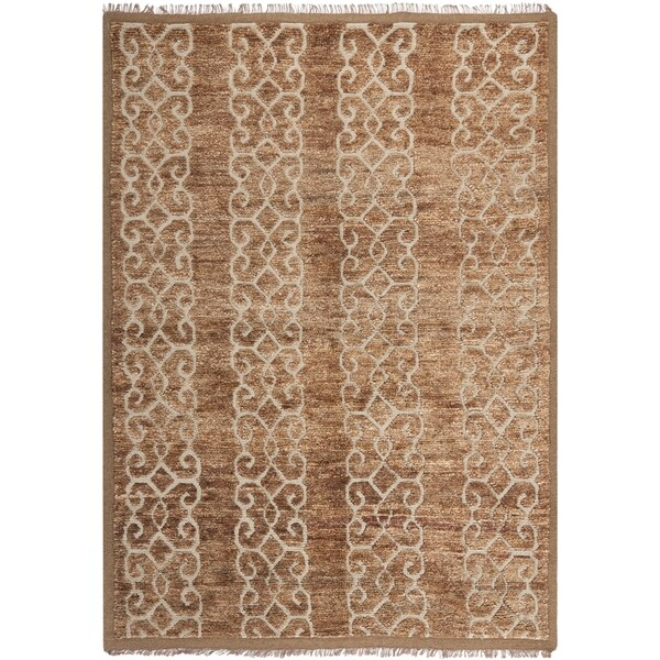 Safavieh Couture Hand-Knotted Contemporary Ivory Wool Rug (5' x 8')