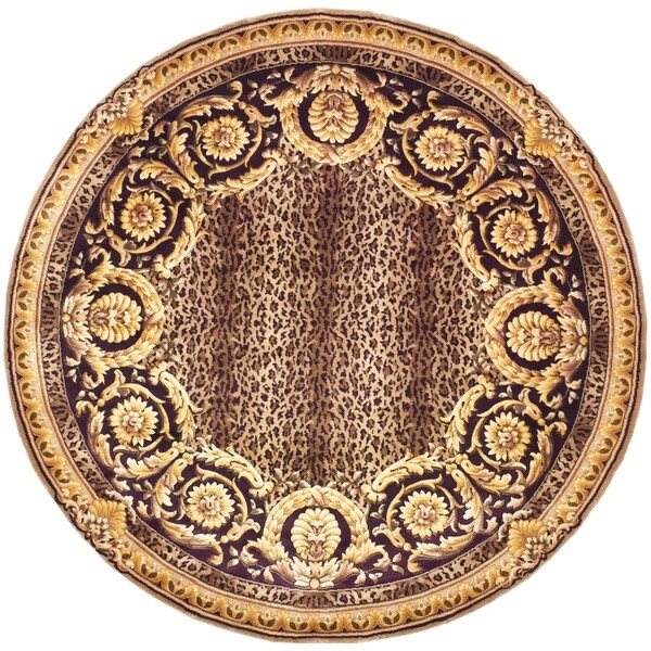 Safavieh Couture Hand-Knotted Florence Classic Burgundy / Multi Wool Rug (6' x 6' Round)
