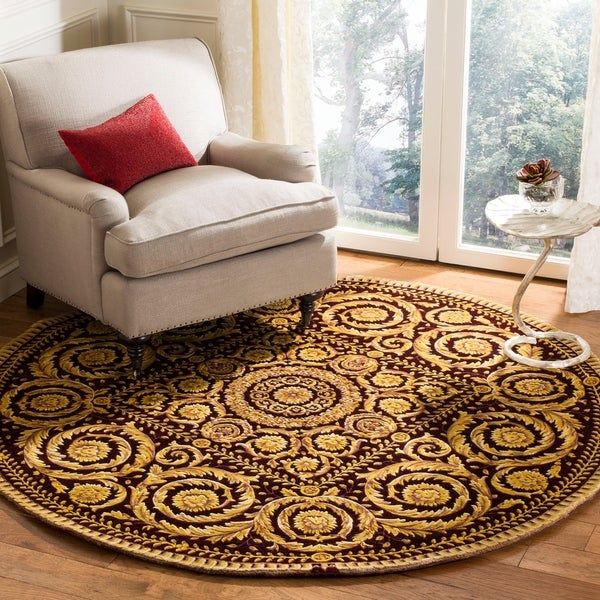 Safavieh Handmade Florence Shabby Chic Multi Colored Wool Rug - 6' x 6' Round