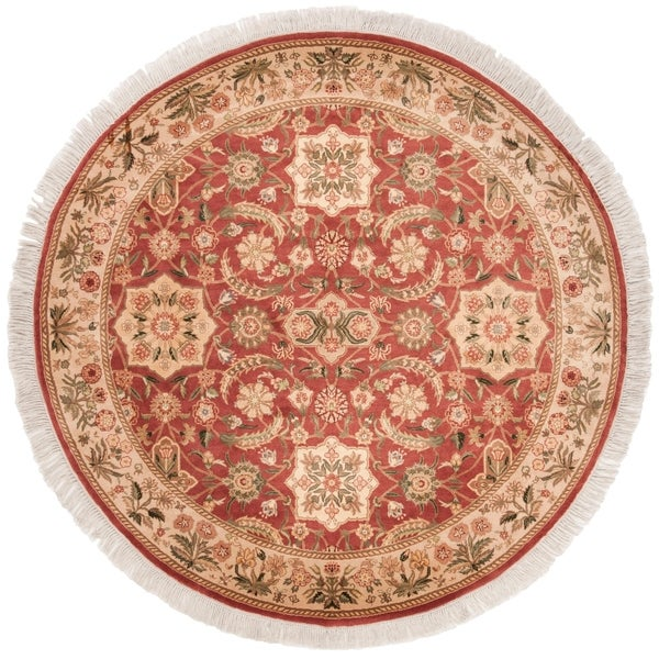 Safavieh Couture Handmade Versailles Contemporary Multi Colored Wool Rug - Assorted - 6' x 6' Round