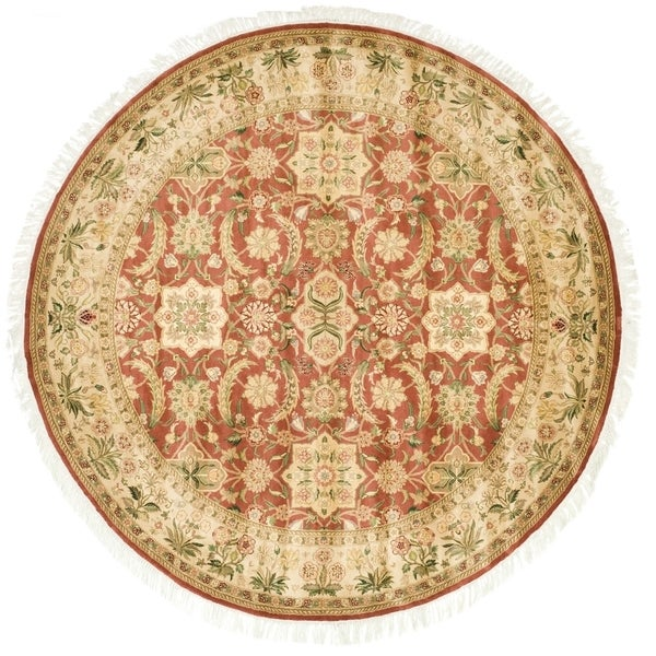 Safavieh Couture Hand-Knotted Versailles Vintage Rust / Beige Wool Rug (6' x 6' Round)