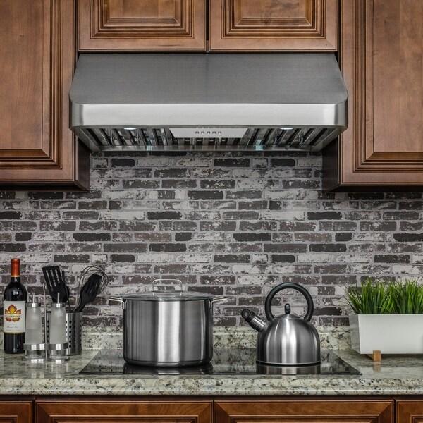 Akdy Rh0250 30 Stainless Steel Under Cabinet Range Hood Push On Control Kitchen Cooking Fan