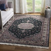 Safavieh Couture Hand-Knotted Florence Classic Gold / Burgundy Wool Rug (6' x 6' Round)