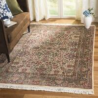 Safavieh Couture Hand-Knotted Royal Kerman Traditional Ivory / Multi Wool Rug (6' x 6' Round)