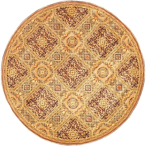 Safavieh Handmade Florence Traditional Multi Colored Wool Rug - Assorted - 8' x 8' Round