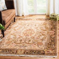 Safavieh Couture Hand-Knotted Royal Kerman Traditional Beige / Tan Wool Rug (8' x 8' Round)