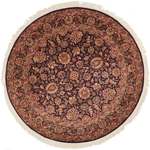 Safavieh Couture Handmade Royal Kerman Traditional Multi Colored Wool Rug - Assorted - 8' x 8' Round