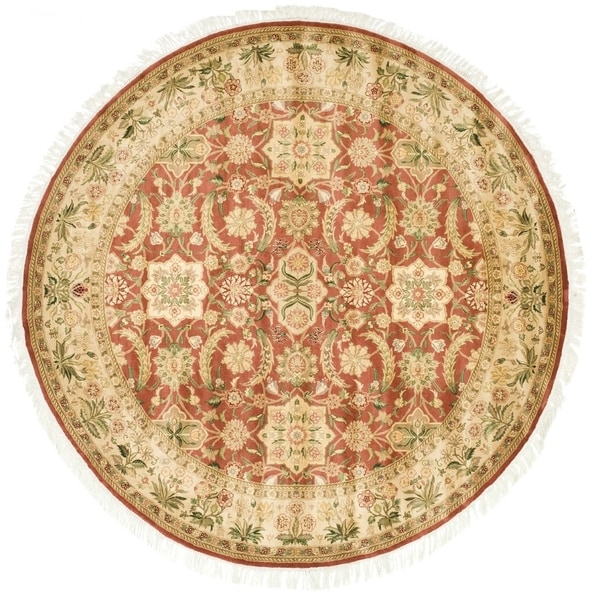 Safavieh Couture Hand-Knotted Versailles Vintage Rust / Beige Wool Rug (8' x 8' Round)