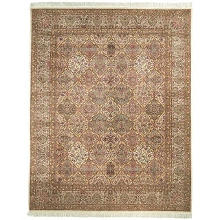 Safavieh Couture Hand-Knotted Royal Kerman Traditional Ivory / Multi Wool Rug (8' x 8' Round)