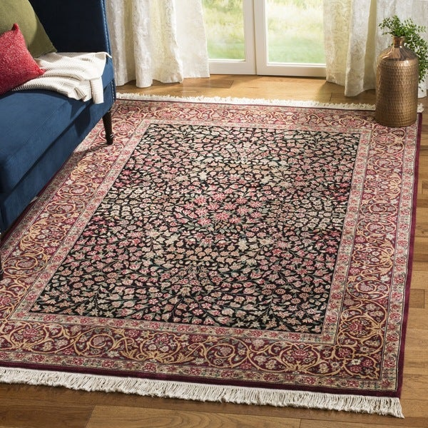 Hand Tufted Agra Red Gold Wool Rug 8 Round: Shop Safavieh Couture Hand-Knotted Royal Kerman