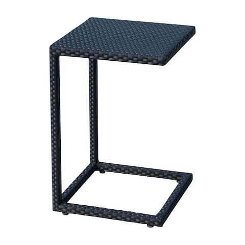 Panama Jack Onyx Black Weather-resistant C-shaped End Table