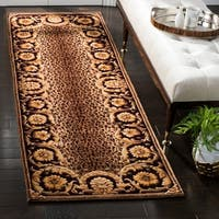 Safavieh Couture Hand-Knotted Florence Classic Burgundy / Multi Wool Rug - 2'6' x 12'