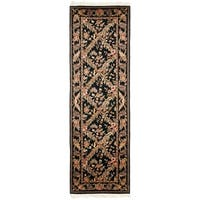 Safavieh Couture Hand-Knotted Royal Kerman Traditional Black / Black Wool Rug - 2'6' x 12'