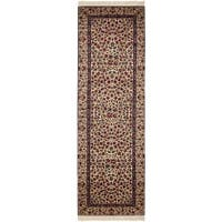 "Safavieh Couture Hand-Knotted Royal Kerman Traditional Multi Wool Rug - Ivory - 2'6"" x 12'"