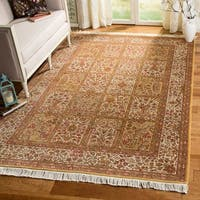 Safavieh Couture Hand-Knotted Royal Kerman Traditional Ivory / Multi Wool Rug - 2'6' x 12'