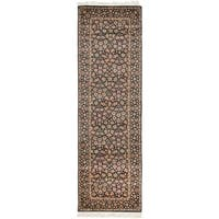 Safavieh Couture Hand-Knotted Royal Kerman Traditional Navy / Multi Wool Rug - 2'6' x 20'