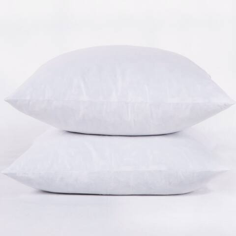 St. James Home Feather Pillow Insert (Set of 2) - White