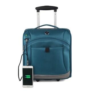 """Swissdigital 14"""" Basel Teal Tote Luggage Underseater"""