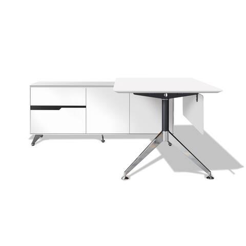 Modern Executive Desk with Left Return Filing Cabinet