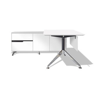 Modern Executive Desk with Left Return Filing Cabinet