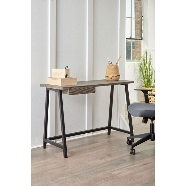 . Breeze Grey Student Desk with Drawer