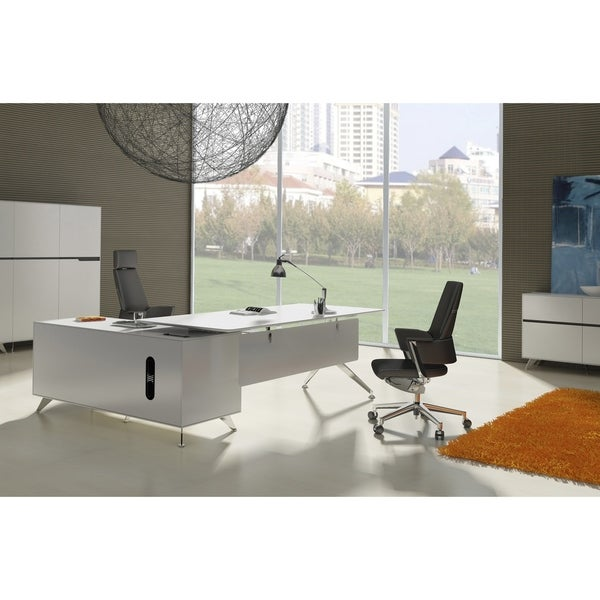 shop modern executive desk with right return cabinet on sale