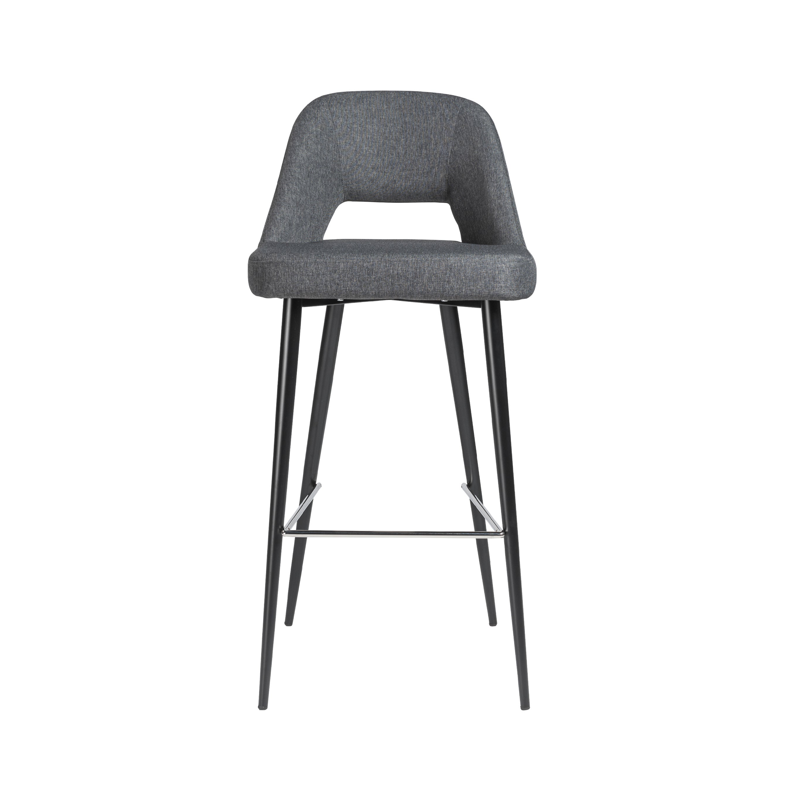 Awesome Blair B Dark Grey Fabric With Black Legs Bar Stool Cjindustries Chair Design For Home Cjindustriesco