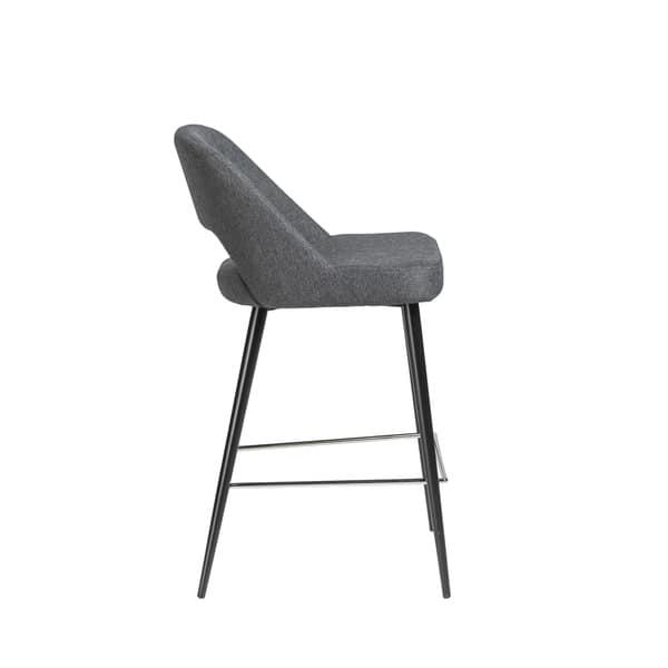 Sensational Shop Blair C Dark Grey Fabric Counter Stool With Black Steel Lamtechconsult Wood Chair Design Ideas Lamtechconsultcom