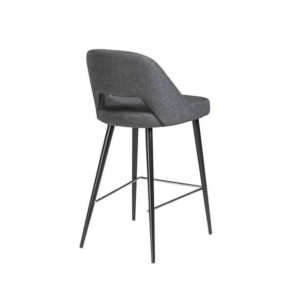 Magnificent Shop Blair C Dark Grey Fabric Counter Stool With Black Steel Lamtechconsult Wood Chair Design Ideas Lamtechconsultcom