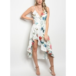 JED Women's Floral Asymmetric Dress Romper