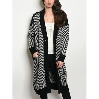 JED Women's Loose Fit Chunky Knit Long Cardigan