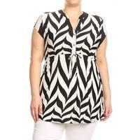 Women's Plus Size Chevron Pattern Tunic