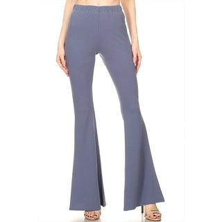 Women's Solid Color Flared Hem Pants