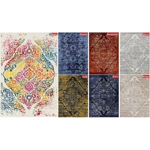 "Persian Rugs Vintage Antique Distress Designed Multicolor Tones Area Rug (7'10x10'6) - 7'10"" x 10'6"""