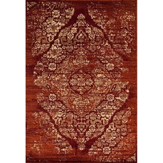 Persian Rugs Vintage Antique Distressed Area Rug (7'10 x 10'6) (Option: Burgundy)