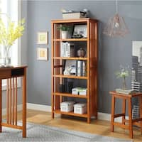 Mission 5-Shelf Bookcase