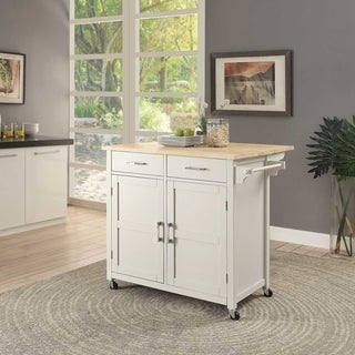 Macie Wood Kitchen Cart